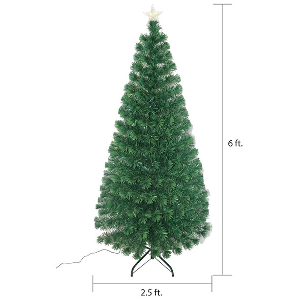 5 FT//Foot Artificial Christmas Prelit Tree Decorated with Multicolor LED Lights
