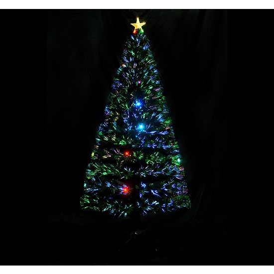 homcom 6 indoor artificial fiber optic light up holiday xmas decoration christmas tree - Overstock Christmas Decorations