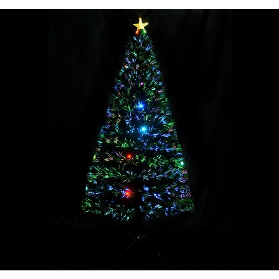 homcom 6 indoor artificial fiber optic light up holiday xmas decoration christmas tree