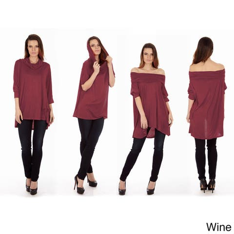 Dinamit Women's 3-Way Top Sweater