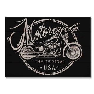 Motorcycle The Original 20x14 Indoor/Outdoor Full Color Cedar Wall Art