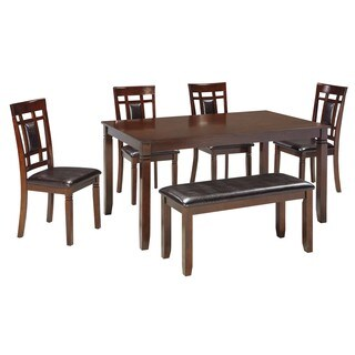 Signature Design by Ashley Bennox Brown 6-Piece Dining Room Table Set