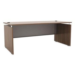 Alera Sedina Series Straight Front Desk Shell (Modern Walnut)