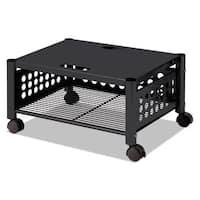Vertiflex Underdesk Machine Stand One-Shelf 21.5 inch wide x 17 7/8-inch deep x 11.5 inch high (Black)