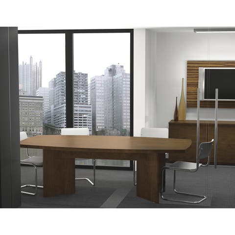 "Bestar Boat-Shaped Conference Table with 1 3/4"" Top Surface"