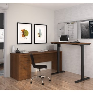 Bestar Embassy L-Desk including Electric Height Adjustable Table
