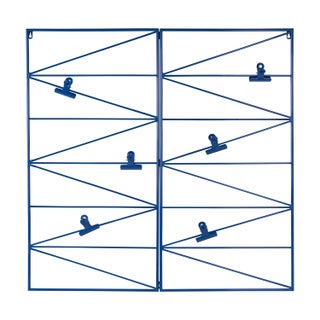 Whitt Wire and Clips Metal Geometric Wall Organizer