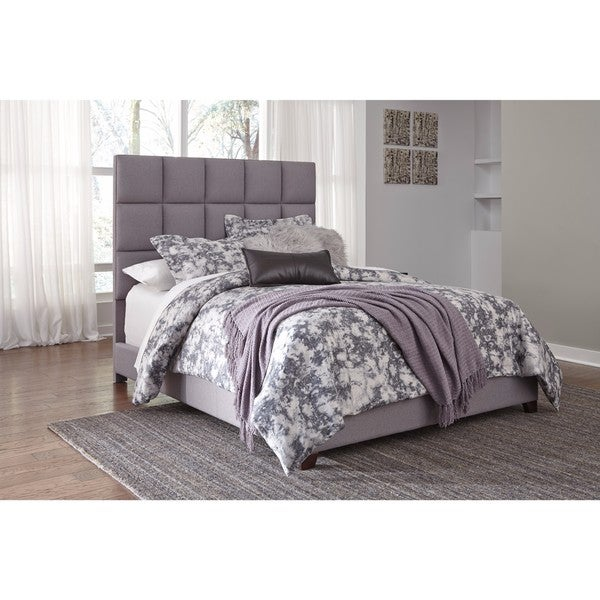 Shop Signature Design By Ashley Gray Upholstered Bed Free Shipping
