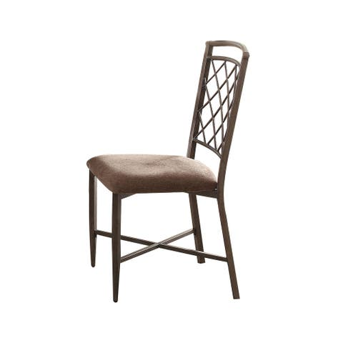 Acme Furniture Aldric Black Metal Dining Chair (Set of 2)