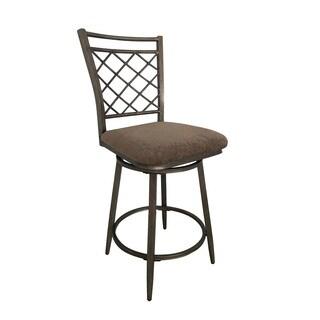 Acme Furniture Aldric Grey Fabric Swivel Chair (Set of 2)