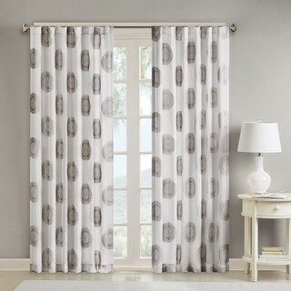 Madison Park Othello Clipped Lined Medallion Window Curtain Panel