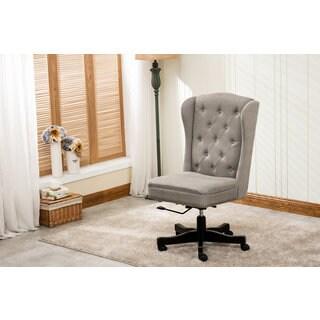 DG Casa Chadwick Beige Linen Upholstered Home Office Chair
