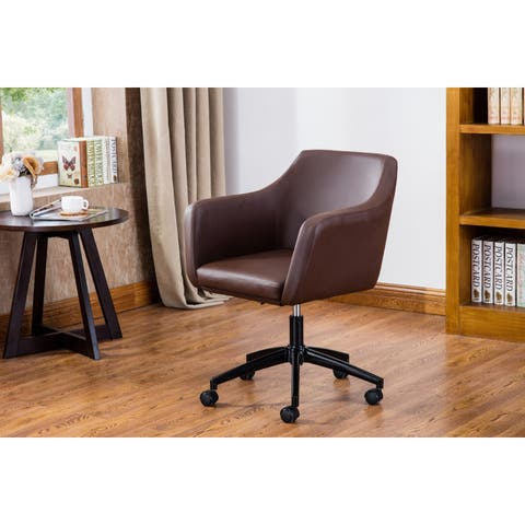 DG Casa Carter Brown Faux-leather Home Office Chair