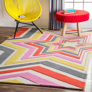 nuLOOM Handmade by Thomas Paul Contemporary Vibrant Stars Multi Rug (4' x 6')
