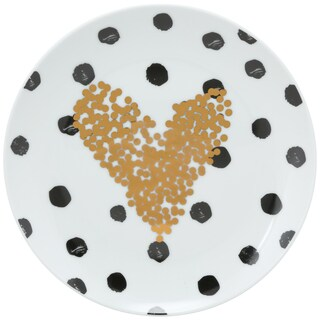 The Goodies Porcelain Heart App Plate (Set of 4)