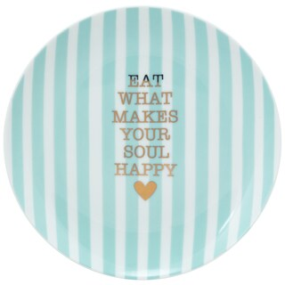 10 Strawberry Street The Goodies App Plate - Happy Soul - Blue - Set of 4