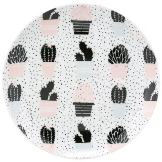 10 Strawberry Street The Goodies Cacti Porcelain App Plate (Pack of 4)