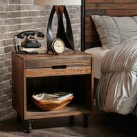 INK+IVY Renu Light Brown Multi Nightstand