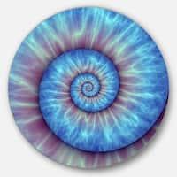 Designart 'Fibonacci Pattern Blue' Abstract Art Round Wall Art