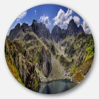 Designart 'Tatra Mountains Panorama' Landscape Photo Disc Metal Wall Art