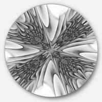 Designart 'Fractal 3D Magical Depth' Abstract Art Round Wall Art