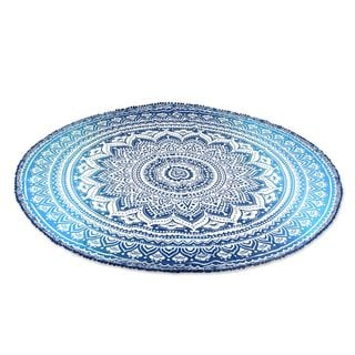 Handmade Cotton Beach Roundie, Seaside Bliss (India)