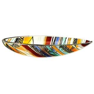 Art Glass Centerpiece, 'Rainbow Eclipse' (Brazil)