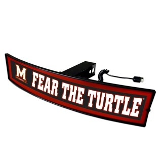 Maryland Fear the Turtle Light-up Hitch Cover