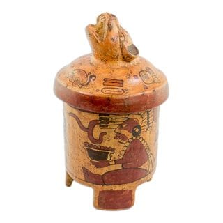 Handmade Ceramic Vessel, Pibil Jaguar (El Salvador)