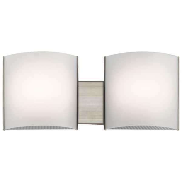 Kichler Lighting Transitional 2-light Brushed Nickel LED Bath/Vanity ...