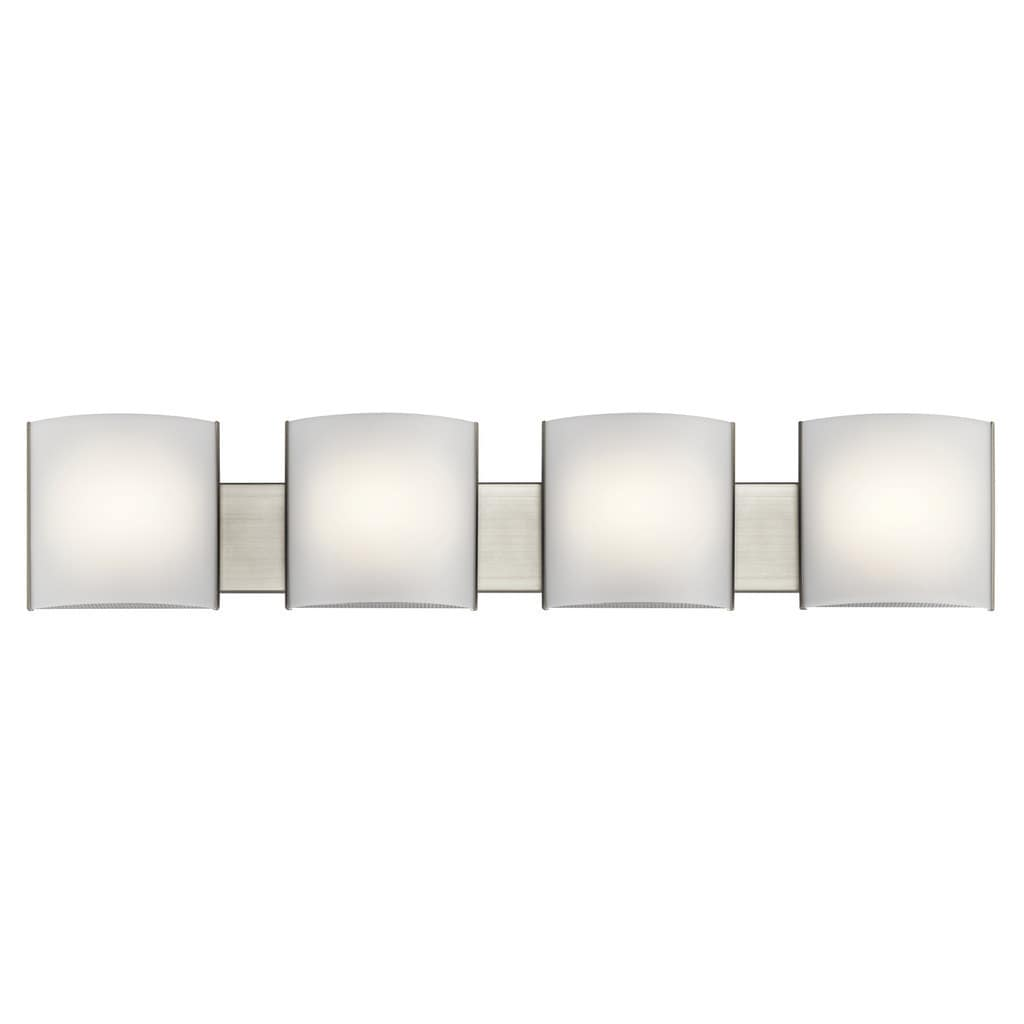 Kichler Lighting Transitional 4 Light Brushed Nickel Led Bath Vanity Light Overstock 14254302