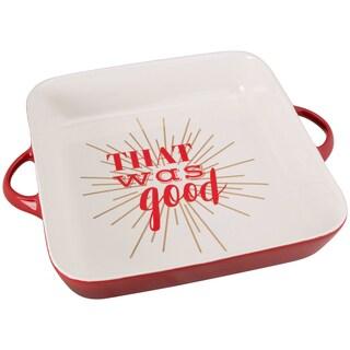Red Ceramic That was Good Baking Dish