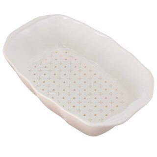 10 Strawberry Street 'Pink Hearts and Arrows' Ceramic Loaf Pan