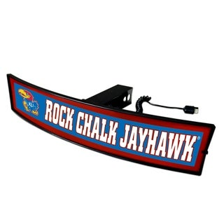 Fanmats Kansas Rock Chalk Jayhawk Acrylic Light-up Hitch Cover