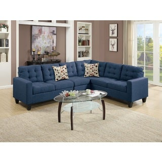 gertruda 4 piece sectional sofa set - Blue Living Room Set
