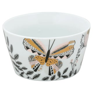 10 Strawberry Street Flutterby White Porcelain 5.5-inch Goodies Bowls (Pack of 4)