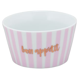 10 Strawberry Street Pink Porcelain Bon Appetit The Goodies Bowl (Pack of 4)