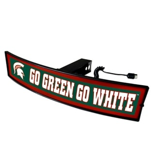 Michigan State 'Go Green Go White' 2-inch Light-up Hitch Cover