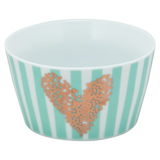 10 Strawberry Street Tiffany Blue Porcelain Heart of Gold The Goodies Bowl (Pack of 4)