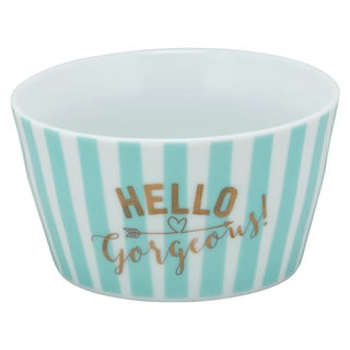 10 Strawberry Street Tiffany Blue Porcelain 'Hello Gorgeous!' The Goodies Bowl (Set of 4)