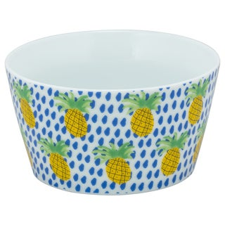 'The Goodies' Blue Pineapple Patterned Bowls (Set of 4)