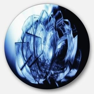 Designart 'Fractal 3D Blue Glass Pattern' Abstract Art Disc Metal Wall Art (3 options available)