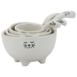 White Cat Measuring Cups (Set of 4)