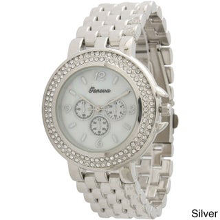 Olivia Pratt Women's Faux Chronograph Basket Link Bracelet Watch One Size