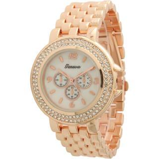Olivia Pratt Women's Faux Chronograph Basket Link Bracelet Watch One Size|https://ak1.ostkcdn.com/images/products/14254721/P20842917.jpg?impolicy=medium