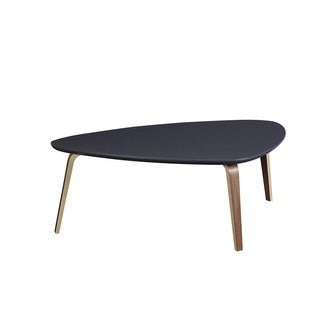 Contemporary Modern Tisdale Large Ebony Coffee Table