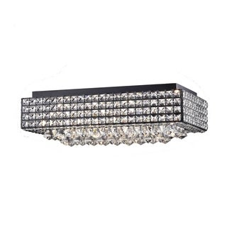 Echion 8 Light Black Flush Mount