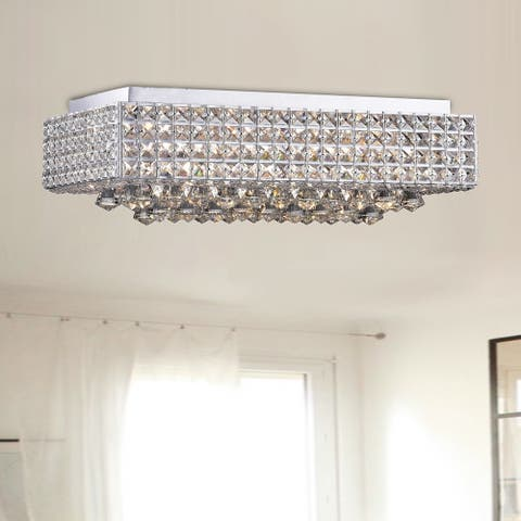 Echion 8 Light Chrome Flush Mount
