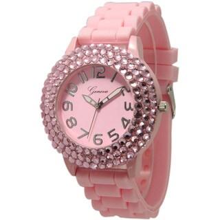Olivia Pratt Women's Sleek Bedazzled Silicone Watch|https://ak1.ostkcdn.com/images/products/14254805/P20842919.jpg?_ostk_perf_=percv&impolicy=medium