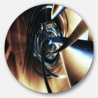 Designart 'Fractal 3D Tangled Center' Abstract Art Disc Metal Artwork